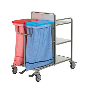 transport trolley / dirty linen / clean linen / with shelf