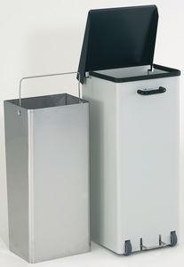 stainless steel waste bin / foot-operated