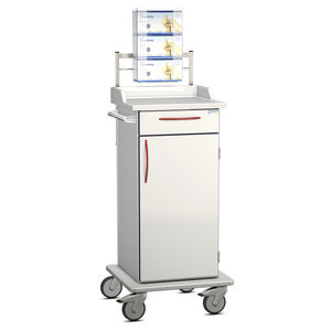 isolation cart / transport / for general purpose / with drawer