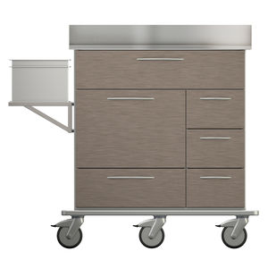 dressing cart / for medical devices / with drawer / with tray
