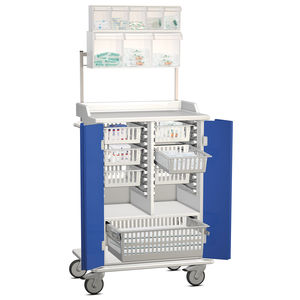 multi-function cart / for general purpose / with shelf / with basket