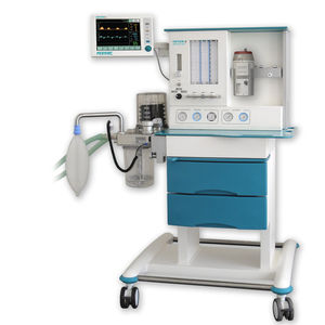 pediatric anesthesia workstation / trolley-mounted / with respiratory monitoring