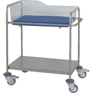 hospital bassinet on casters