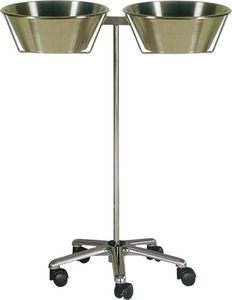 double basin stand / stainless steel