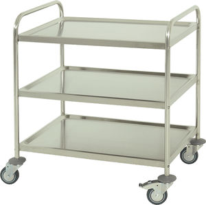 auxiliary trolley / transport / for general purpose / 3-shelf