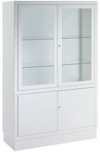 hospital cabinet / with shelf / 2-door / stainless steel