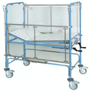 medical bed / manual / with transparent panels / pediatric