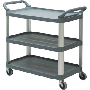 transport trolley / for general purpose / with shelf / 3-shelf