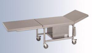 funeral display table / on casters / refrigerated