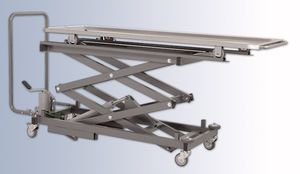 mortuary trolley / transport / lifting / stainless steel