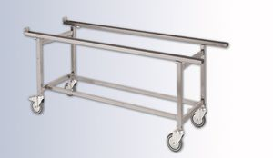 embalming trolley / mortuary / with tray