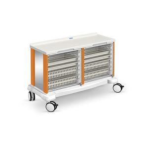 multi-function trolley / for linen / with tambour door / double-module