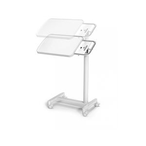 pneumatic overbed table / height-adjustable / tilting / on casters
