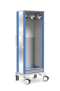 transport trolley / for endoscopes / with tambour door / single-module