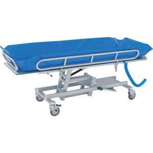height-adjustable shower trolley / hydraulic