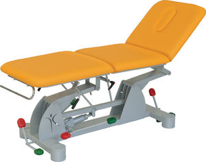 hydraulic examination table / height-adjustable / 3-section