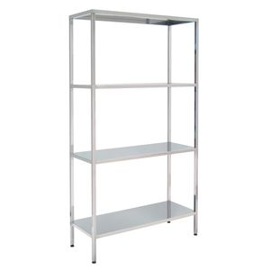 4-shelf shelving unit / stainless steel