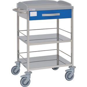 multi-function trolley / with drawer / 2-shelf / hospital