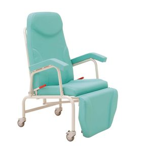 reclining patient chair / on casters / manual