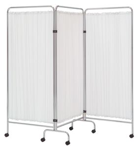 hospital screen on casters / 3-panel