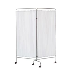 hospital screen on casters / 2-panel