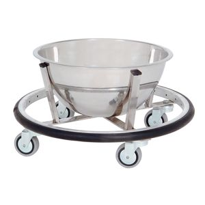 stainless steel kick bucket / on casters