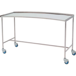 instrument table with shelves / on casters / stainless steel