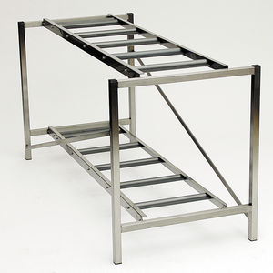 modular shelving unit / mortuary / open-structure / stainless steel