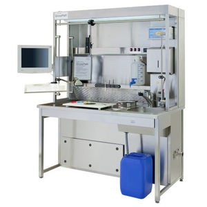 histopathology laboratory workstation / for sample preparation / with sink / with HEPA filter