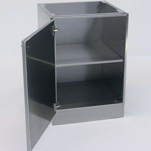 base cabinet / laboratory / with hinged door / stainless steel