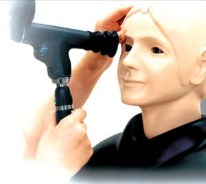 ophthalmic care training manikin