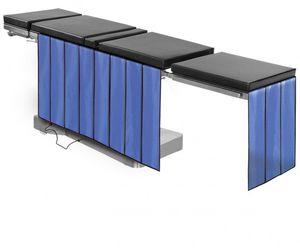 X-ray radiation shielding curtain / examination table-mounted