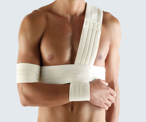 arm sling with waist support strap