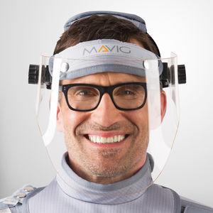 X-ray protective facial screen