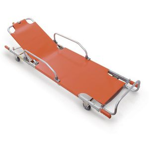 stretchers on casters / 2-section / plastic / aluminum