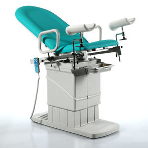 gynecological examination table / electric / height-adjustable / with adjustable backrest