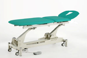 general examination couch / electro-hydraulic / pneumatic / with adjustable backrest