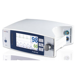 tabletop pulse oximeter / with ECG monitor / with separate sensor