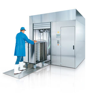 trolley washer-disinfector / front-loading / high-capacity