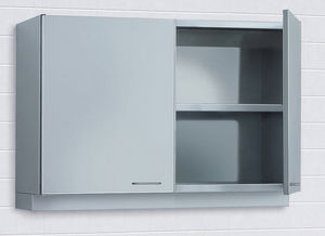hospital cabinet / stainless steel / wall-mounted