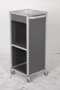 isolation trolley / for general purpose / 2-shelf / medical