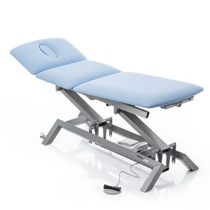 physiotherapy examination table / electric / height-adjustable / on casters