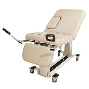gynecological examination table / for ultrasound imaging / electric / height-adjustable