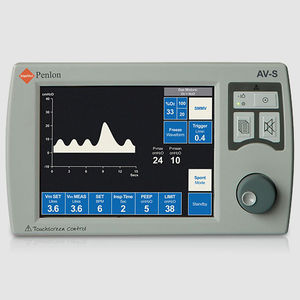 electronic ventilator / anesthesia / with touch screen