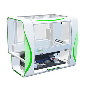 high-throughput screening laboratory workstation / automated / pipetting / benchtop