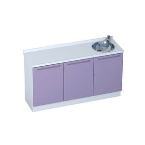doctor's office cabinet / with sink / modular / 3-module