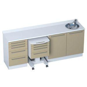 4-drawer cabinet / 5-drawer / with sink / modular