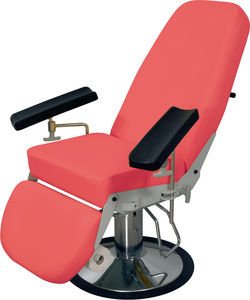 hydraulic blood donor chair / 3-section / height-adjustable