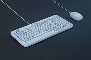 medical keyboard with pointing device