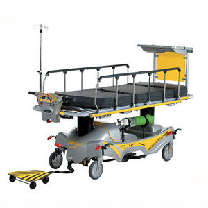 emergency stretcher trolley / electro-hydraulic / self-propelled / 2 sections